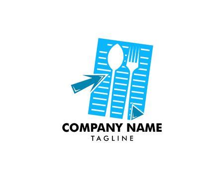 Online recipes logo design element, Food logo