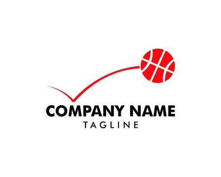 Bouncing Basketball Logo Template Design