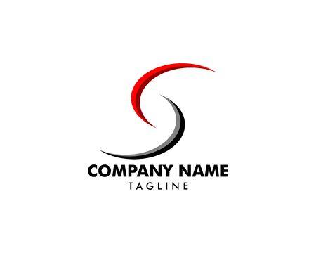 Initial Letter S Logo Template Design 일러스트