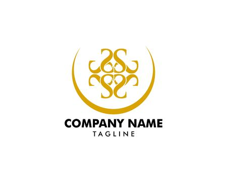 Royal Luxurious Initial S Letter Logo Design in Gold Color