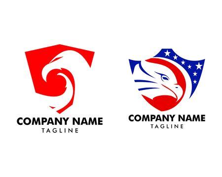 Set of Eagle shield logo design template Standard-Bild - 129095808