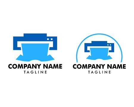 Set of Print Shirt Logo Template Design Vector Illustration