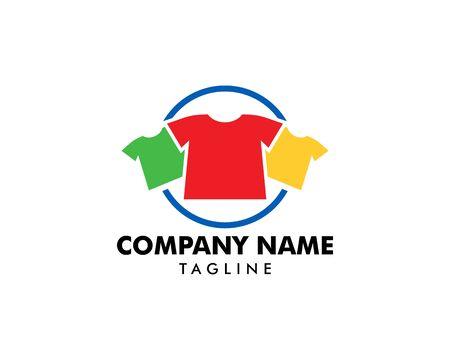 T-shirt Fashion Logo Template Design Vector Illustration