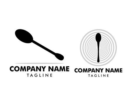 Set of Spoon icon vector logo illustration