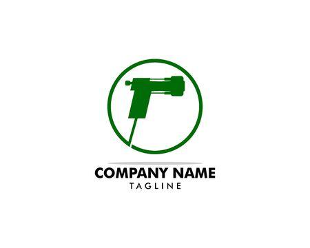 Spray foam insulation icon vector logo illustration