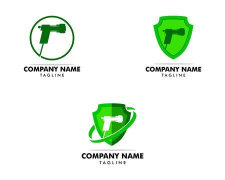 Set of Spray foam insulation icon vector logo illustration Logo