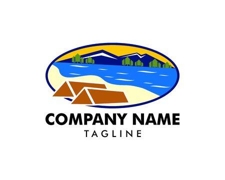 Summer Camp Logo Template Design