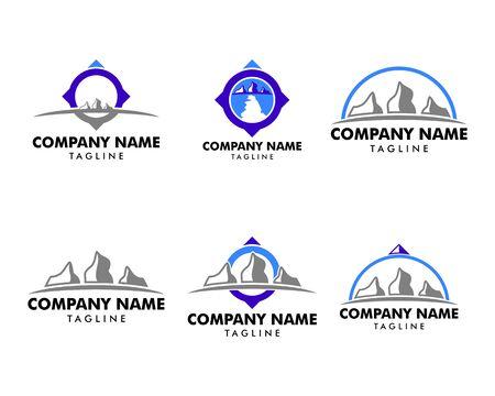 Set of Rock hill logo on white