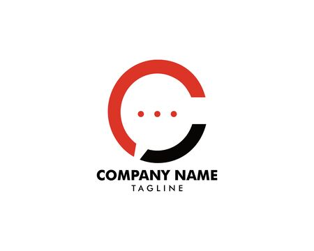 Initial Letter C Chat Logo Template Design Stock Vector - 129709870