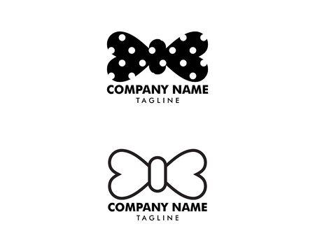 Set of Bow tie logo template icon design elements Illusztráció