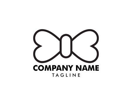 Bow tie logo template icon design elements Illusztráció