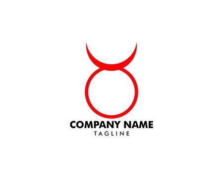 Taurus logo template vector icon illustration design  イラスト・ベクター素材