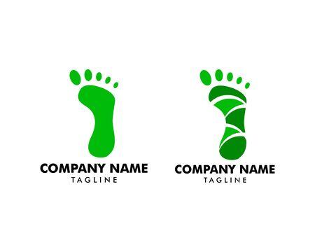 Set of Footprint Logo Template Vector Icon