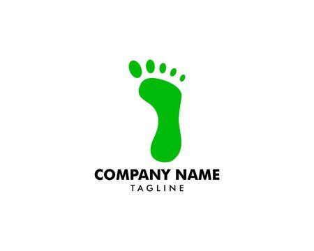 Footprint Logo Template Vector Icon