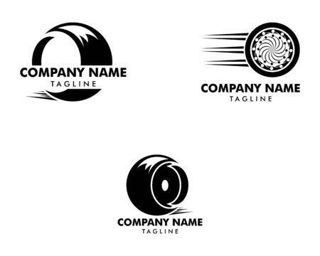 Set of Tyre Shop Logo Design Inspiration Vector