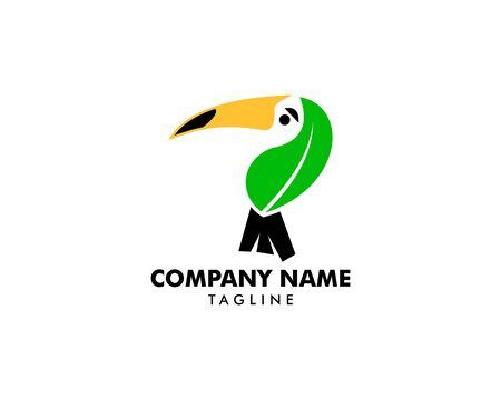 Toucan leaf logo vector icon template Ilustração