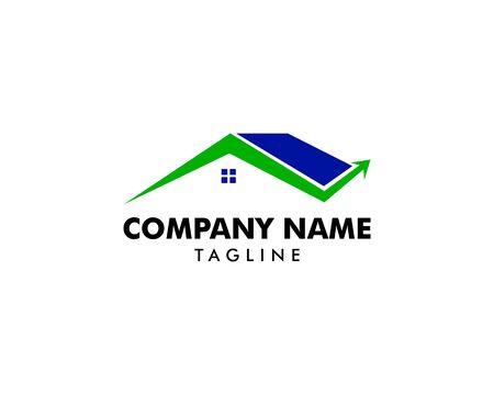 House arrow up business logo design