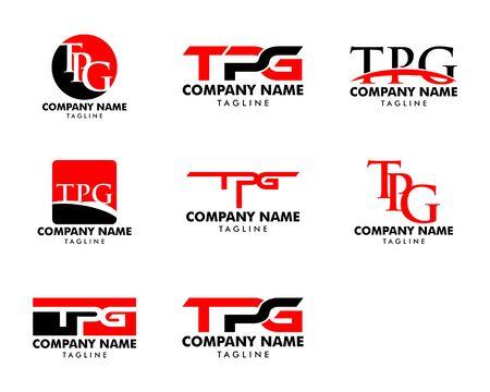 Set of Initial Letter TPG Logo Template Design