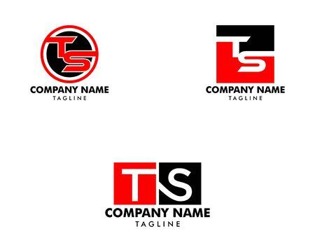 Set of Initial Letter TS Logo Template Design Logó