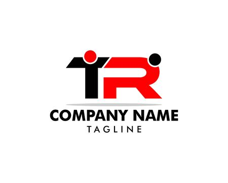 Letter TR People Logo Template