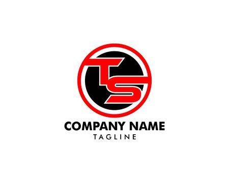 Initial Letter TS Logo Template Design Logó