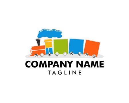 Train Kids Logo Design Template