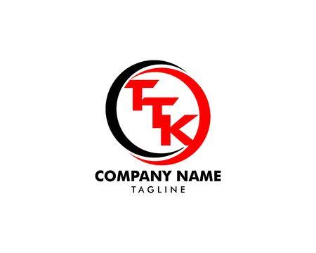 Initial Letter TTK Logo Template Design Çizim