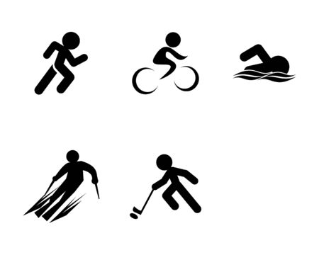 Set of Triathlon Sport Icons