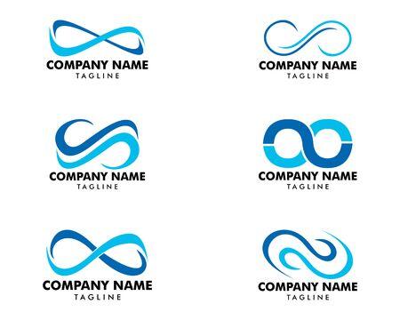 Set of Infinity Symbol Logo Design Vector Illustration