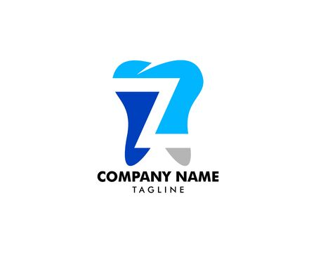 Letter Z with Tooth Logo Design Template Element