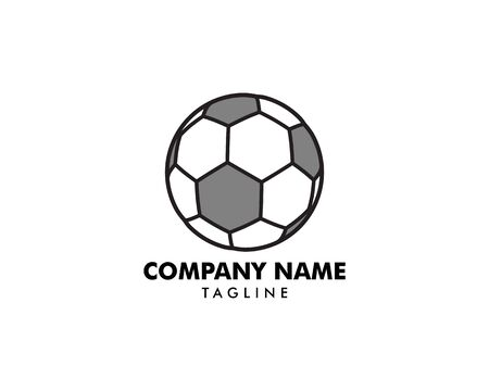 Soccer ball icon logo Illustration
