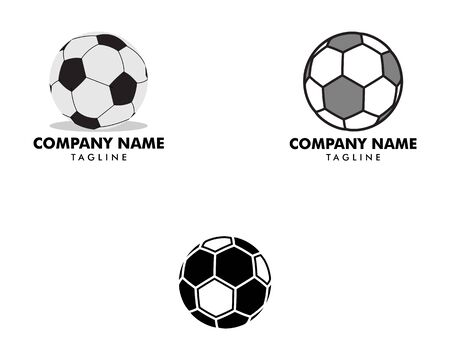 Set of Soccer ball icon logo