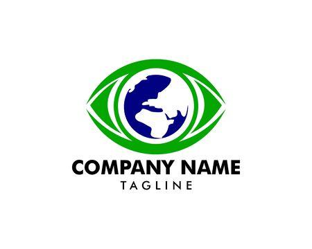 World Eye Logo Design Template