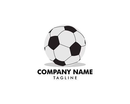 Soccer ball icon logo vector illustration
