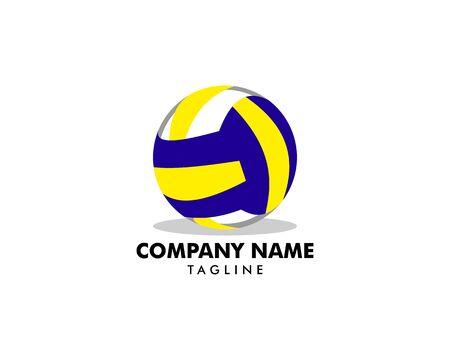 Volleyball logo template vector illustration