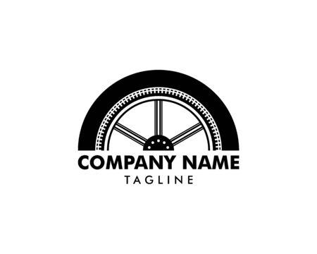 Automotive Tyre Shop Logo Design Inspiration Vector