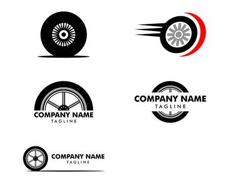 Set of Automotive Tyre Shop Logo Design Inspiration Vector