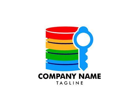 Server Key Icon Logo Design Element