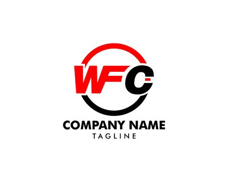 Initial Letter WFC Logo Template Design Illustration