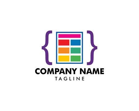 Coding Icon Logo Template Illustration Design 일러스트