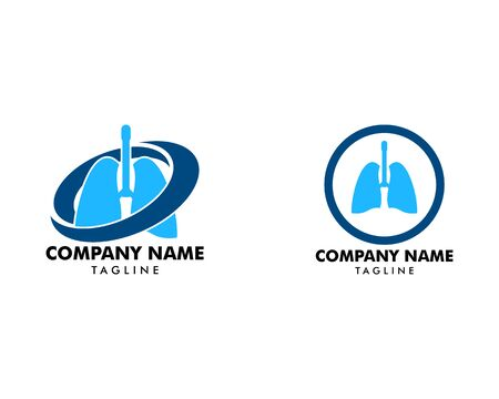 Set of Lung Logo Template Design Vector