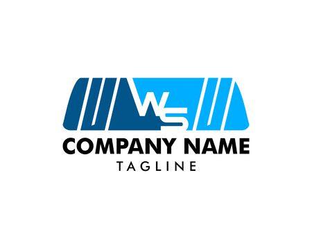 Initial Letter WS Windshield Wiper Car Logo Icon Design