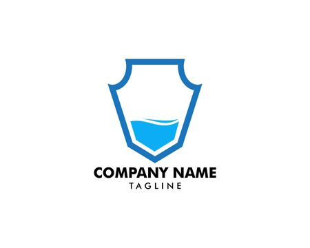 Water shield vector logo template Ilustrace