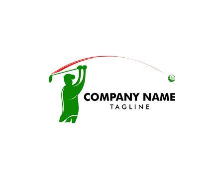 Modèle de conception de logo de club de golf Illustration vectorielle