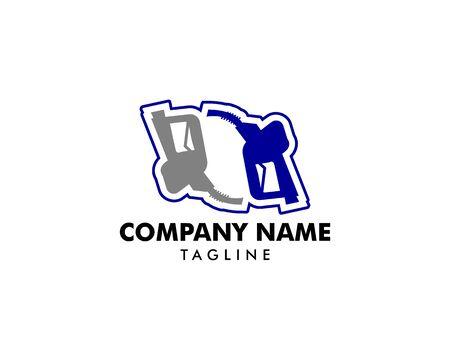 Gasoline Pump Nozzle Logo Template Design