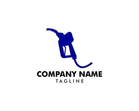 Gasoline Pump Nozzle Logo Template Design Stok Fotoğraf - 131804155