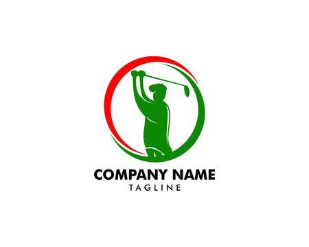 Golf Club Logo Design Template Vector Illustration
