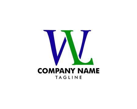 Initial Letter WL Logo Template Design