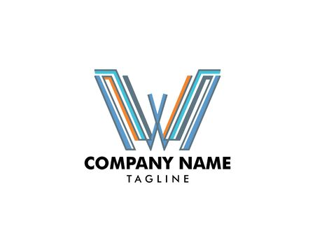 Initial Letter W Logo Template Design Ilustracja