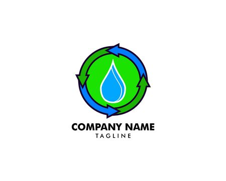Water Recycle Logo Design Template Element